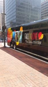 Stalking the tour bus..